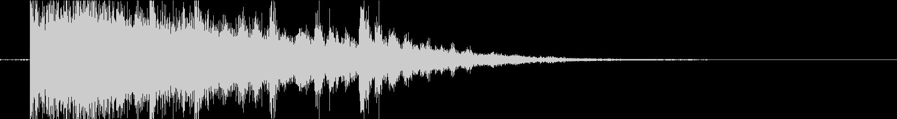 シンセが特徴的な80年代的なサウンドロゴの未再生の波形