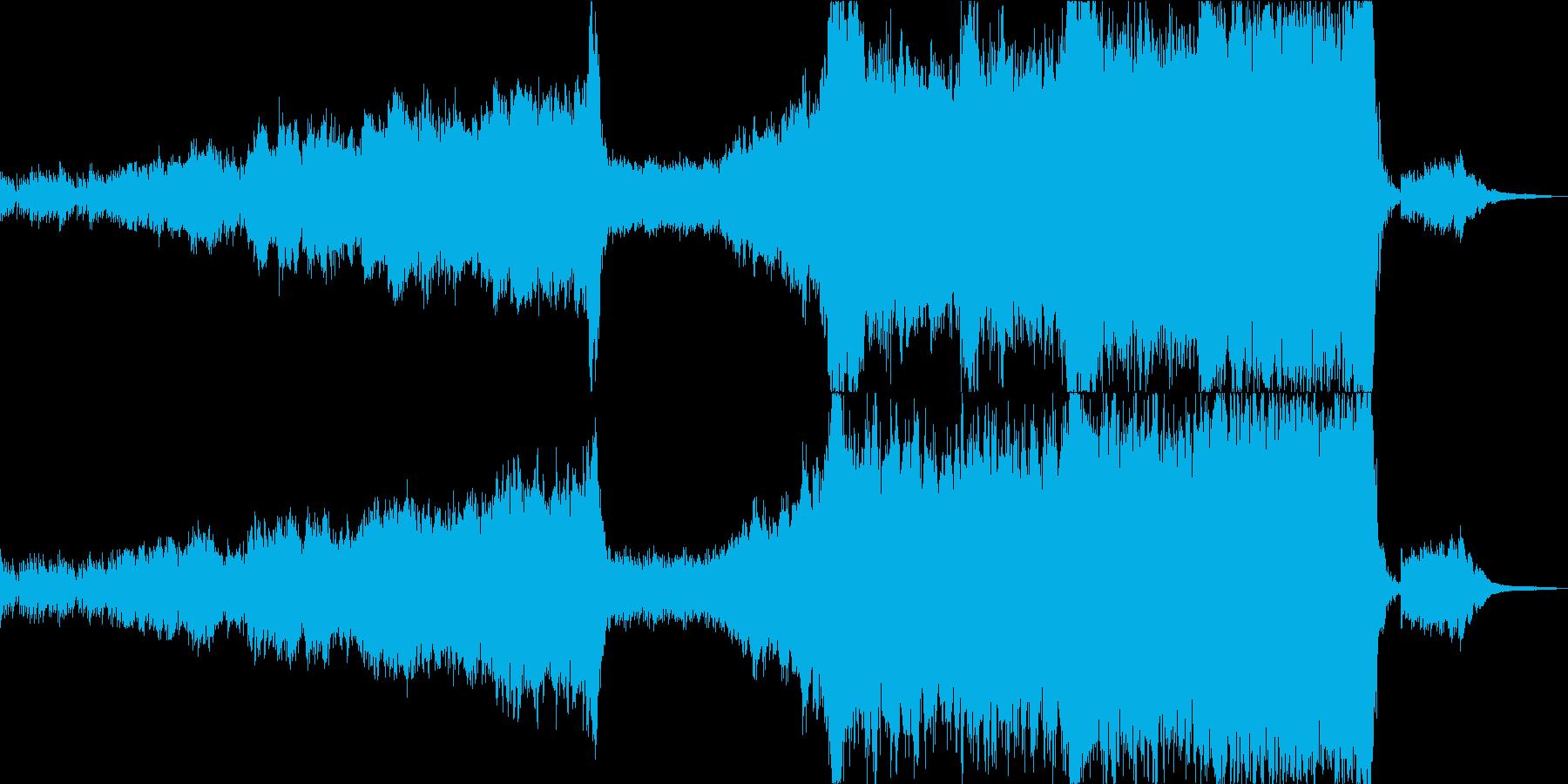 重いエピックオーケストラとダイヤタムなしの再生済みの波形