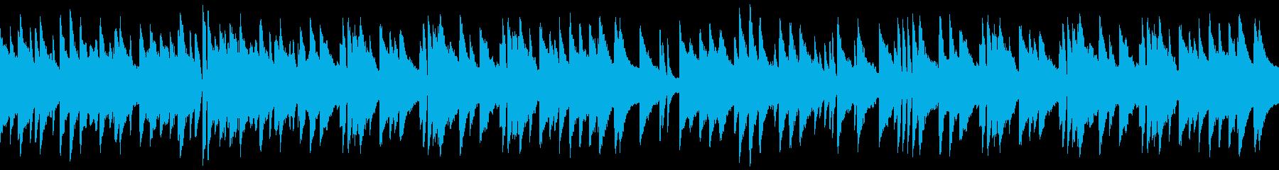 落ち着いた雰囲気のジャズピアノソロループの再生済みの波形