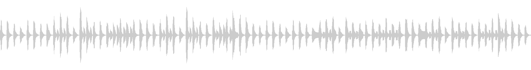 ピアノと管楽器ののんびりマーチの未再生の波形