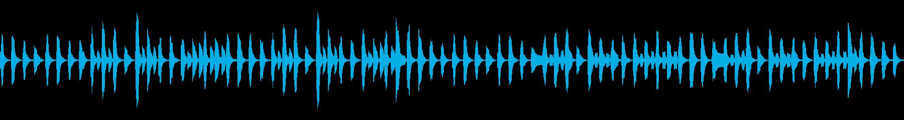 ピアノと管楽器ののんびりマーチの再生済みの波形