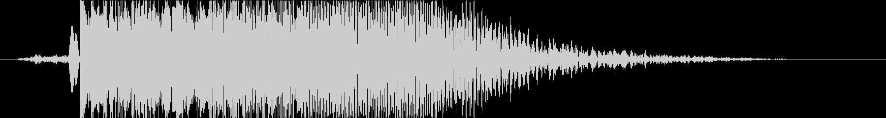 衝撃 爆発13の未再生の波形