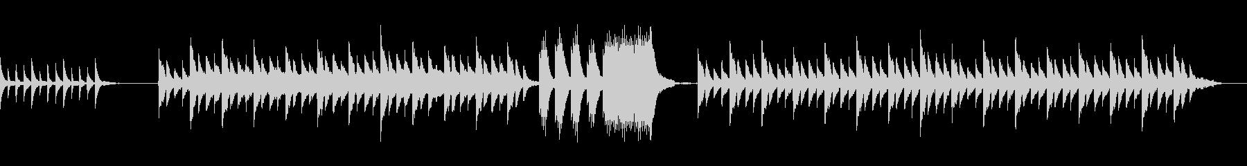温かく包み込むような癒し系ピアノサウンドの未再生の波形