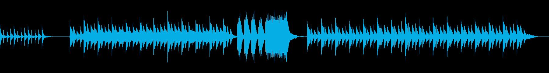 温かく包み込むような癒し系ピアノサウンドの再生済みの波形