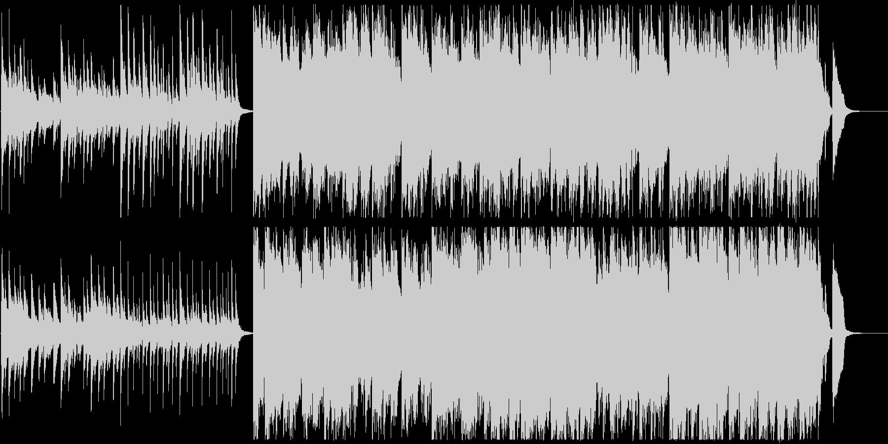 ピアノやマリンバを使用したポップな曲の未再生の波形