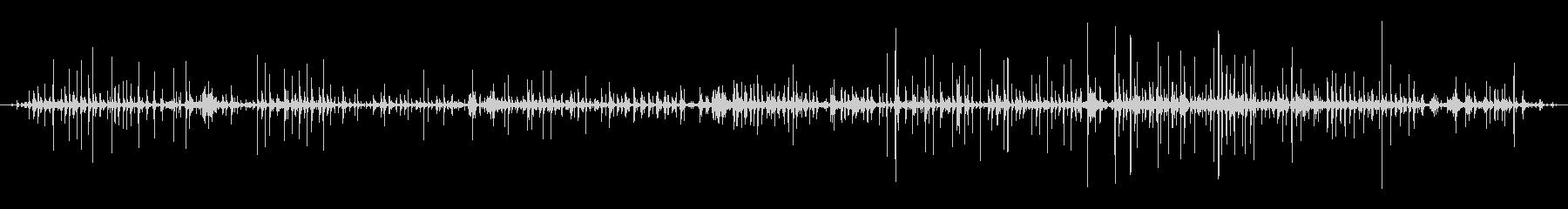 西会津町 - 伝統産業 和紙を漉く音の未再生の波形