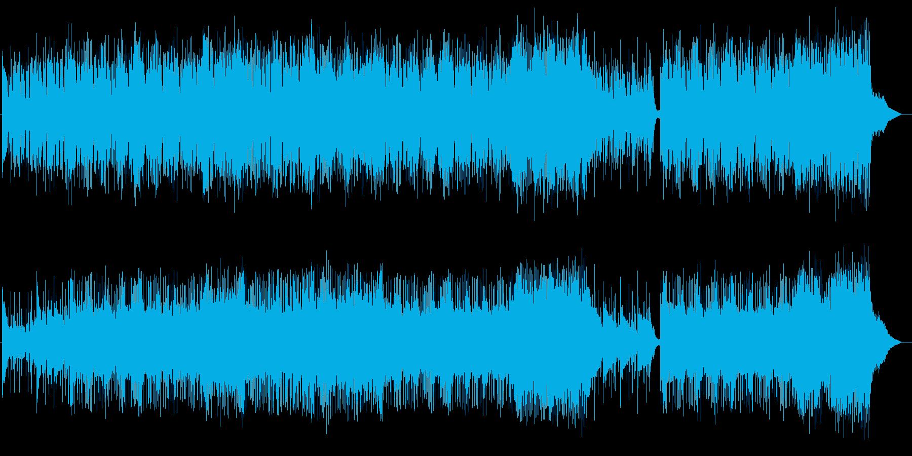 緩やかで弾むピアノとクールなエレキ曲の再生済みの波形
