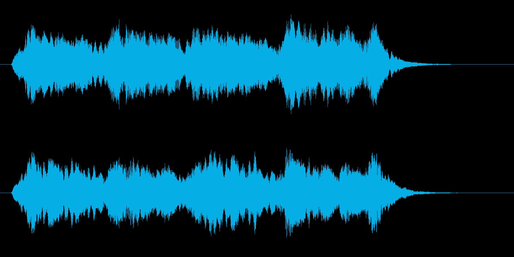 悠長で繊細なヒーリングジングルの再生済みの波形
