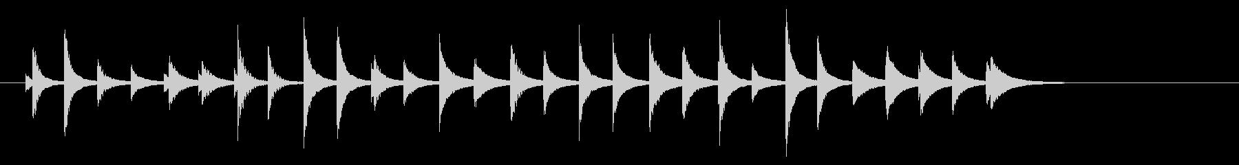 松虫10キラキラ鉄琴アジアン和風歌舞伎鳴の未再生の波形