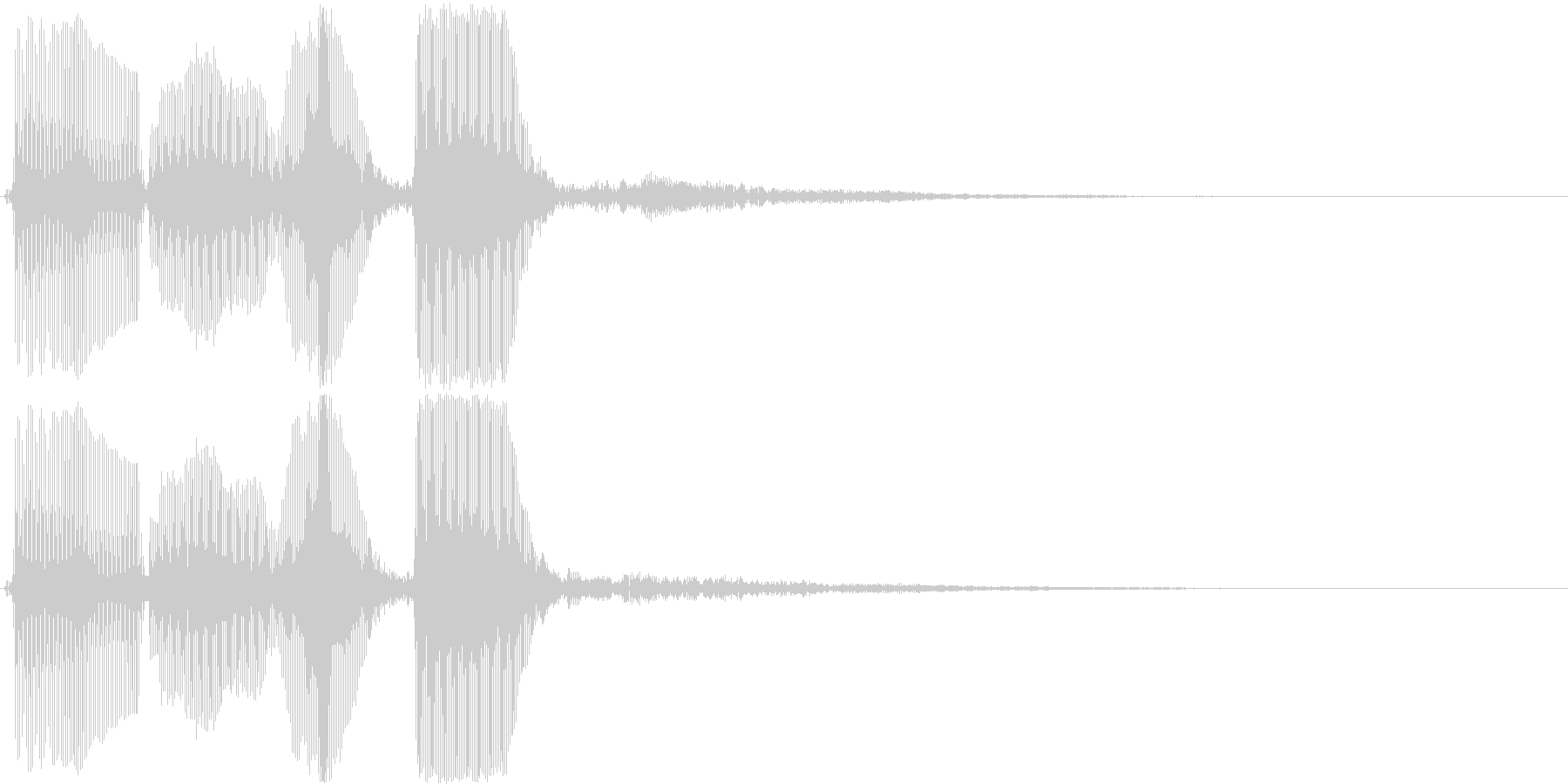 トランペット/パラララン・場面転換などにの未再生の波形