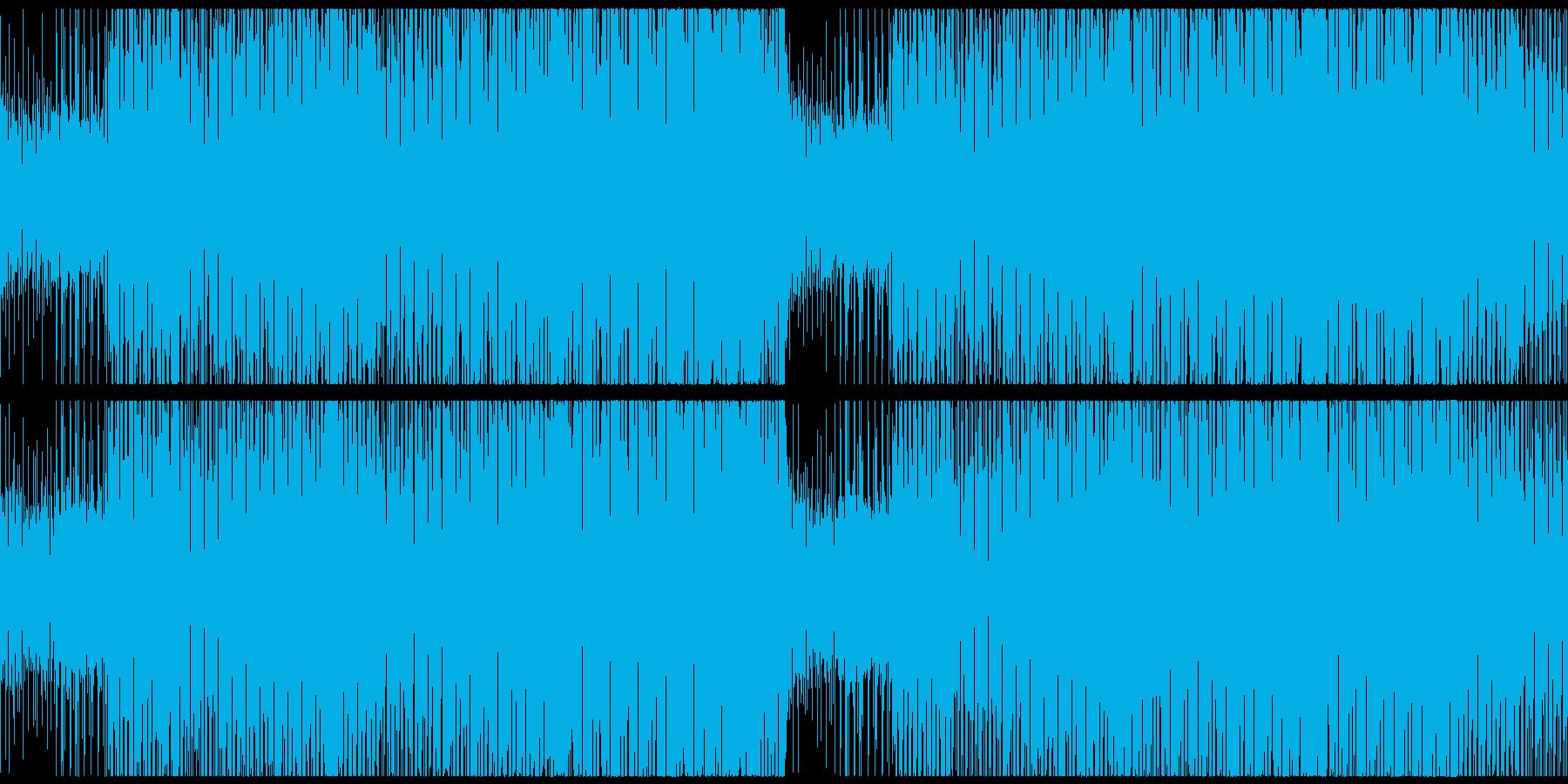 不敵な笑みの怪しくも楽しいハラハラBGMの再生済みの波形