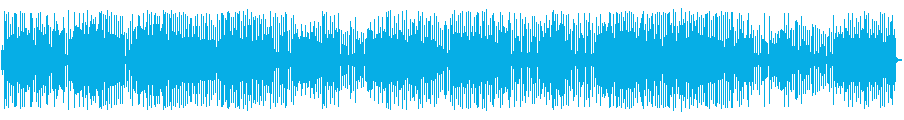 アコースティックで軽快な曲の再生済みの波形