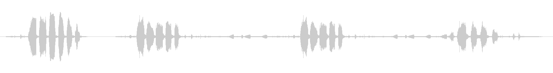アヒル、コール、クローズ、バード;...の未再生の波形