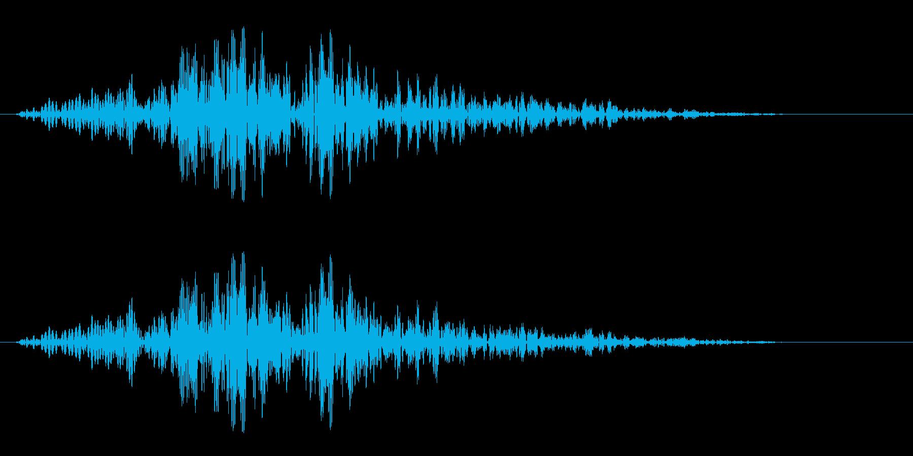 バサッ(軽いものが倒れたような音)の再生済みの波形