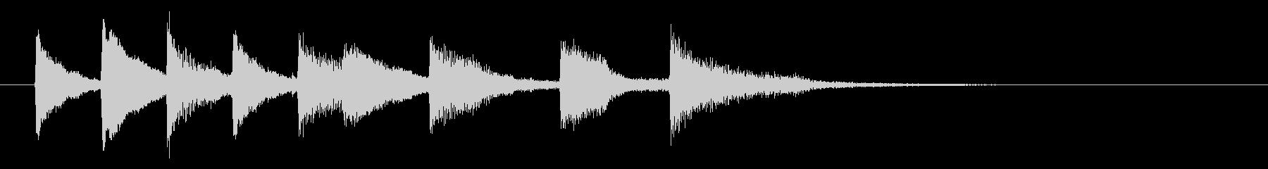 おしゃれなピアノジングル、サウンドロゴの未再生の波形