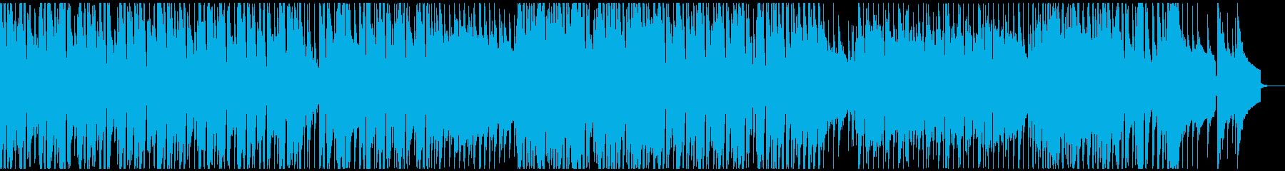企業VP映像用のあかるい曲の再生済みの波形