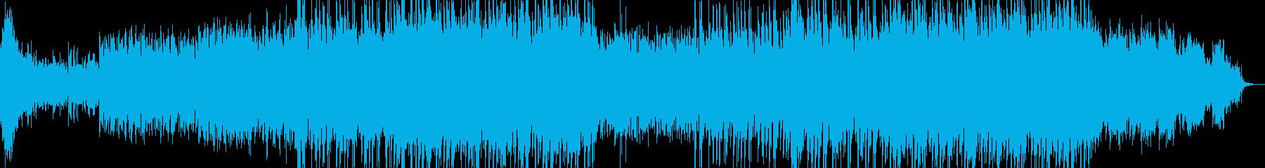 緊迫感漂うエレクトロニカ風BGMの再生済みの波形
