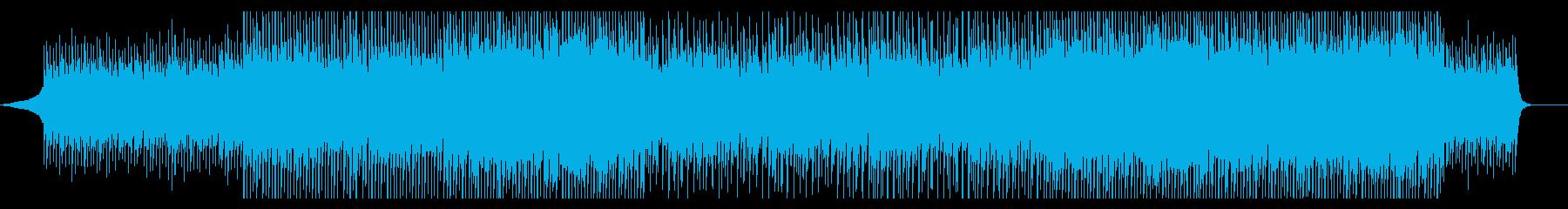 企業VP・無機質ミュートギター・4つ打ちの再生済みの波形