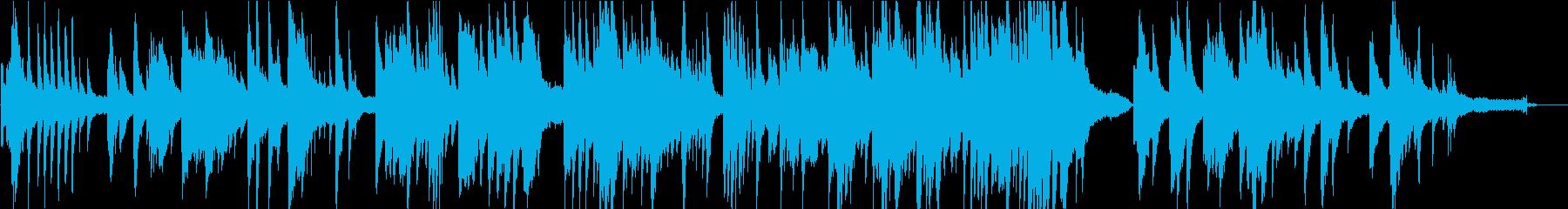 移り変わっていくものを表したピアノソロの再生済みの波形