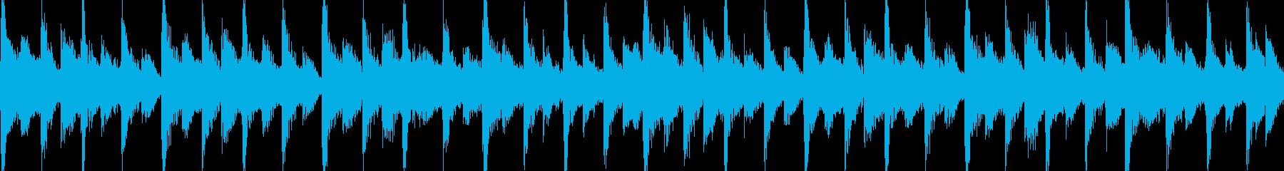 80年代のポップロック調のジングルループの再生済みの波形