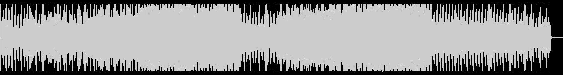 エレクトロ調のダンジョン・ボス戦風BGMの未再生の波形