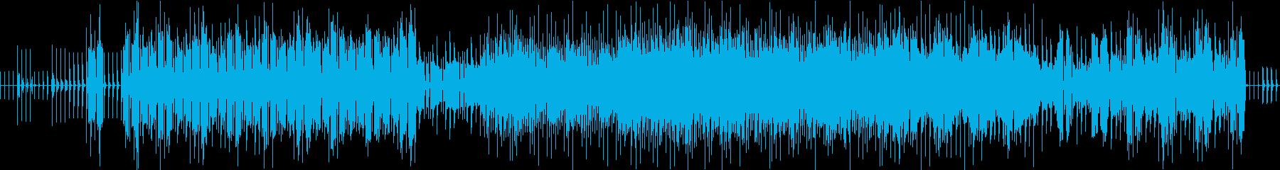 アンダーグラウンド感あるエレクトロニカの再生済みの波形