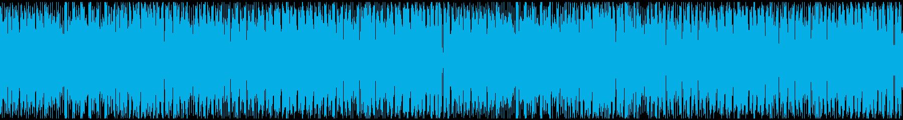 ポップで軽快なダブステップの再生済みの波形