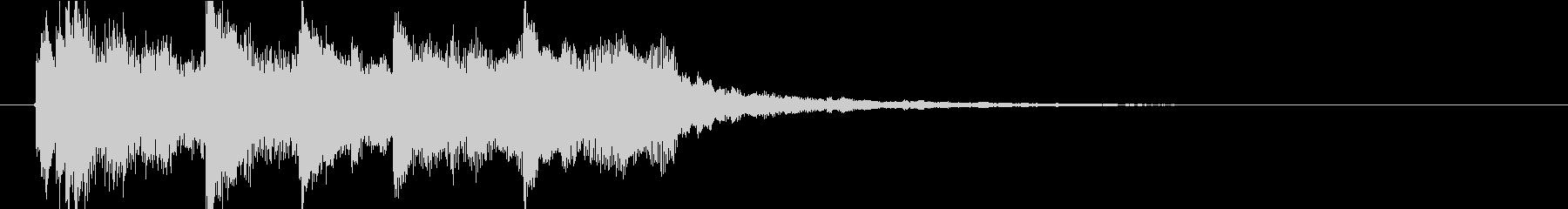 古風な和を感じるジングル(琴)の未再生の波形