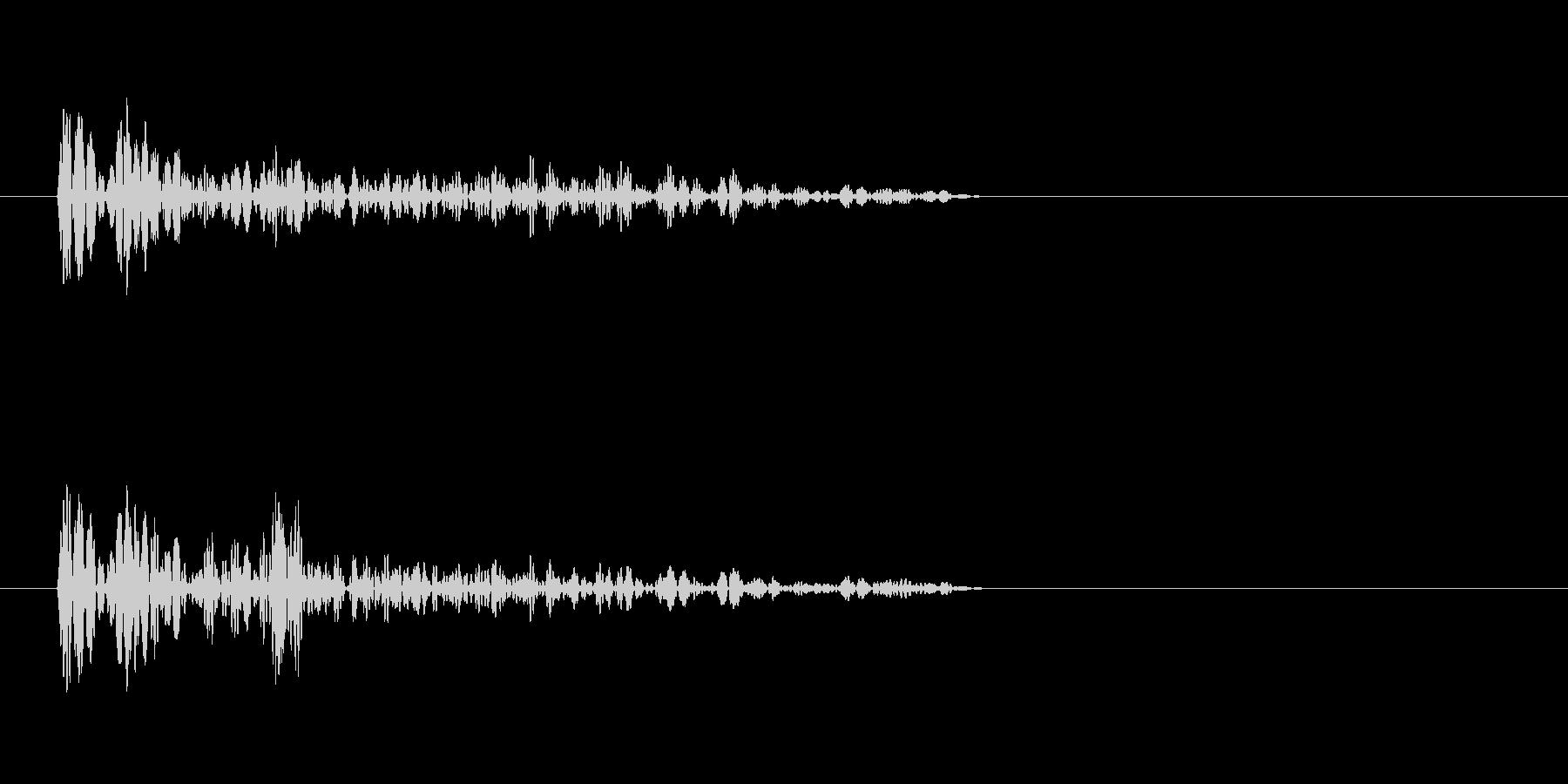 バーン(爆発音)4の未再生の波形