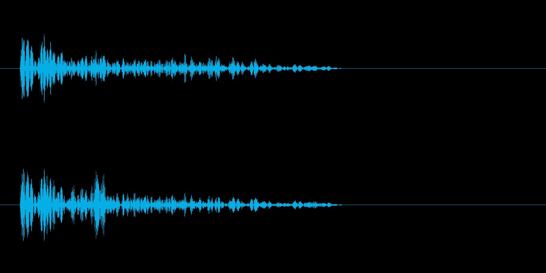 バーン(爆発音)4の再生済みの波形