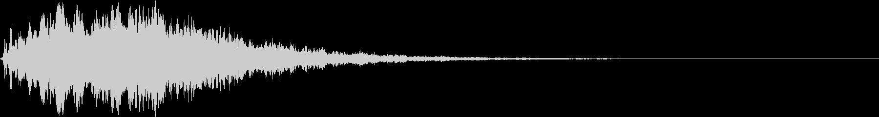 テロップSE シャーン No.5の未再生の波形