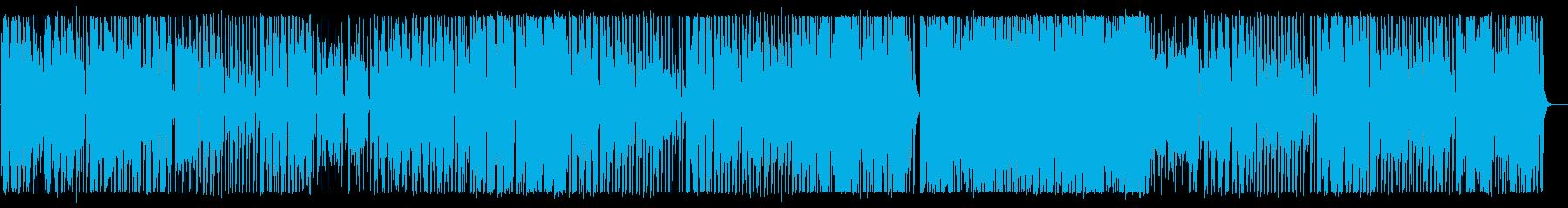 緩やかで軽快なワルツ風テクノポップの再生済みの波形