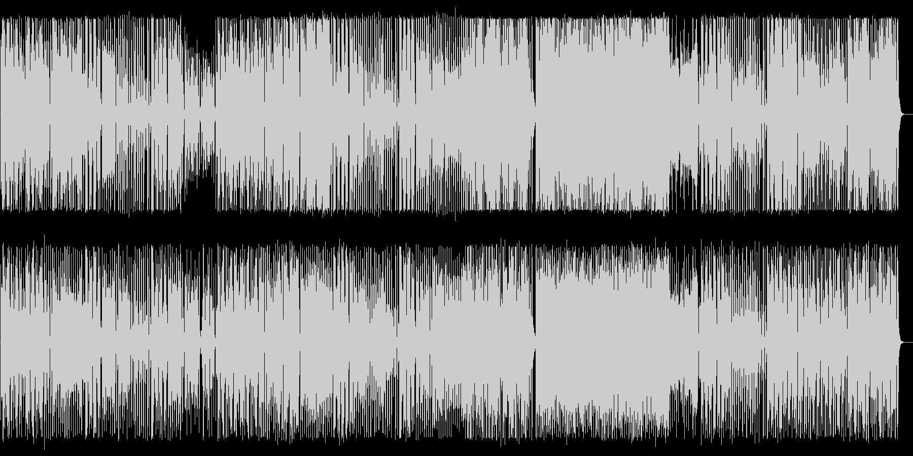 緩やかで軽快なワルツ風テクノポップの未再生の波形