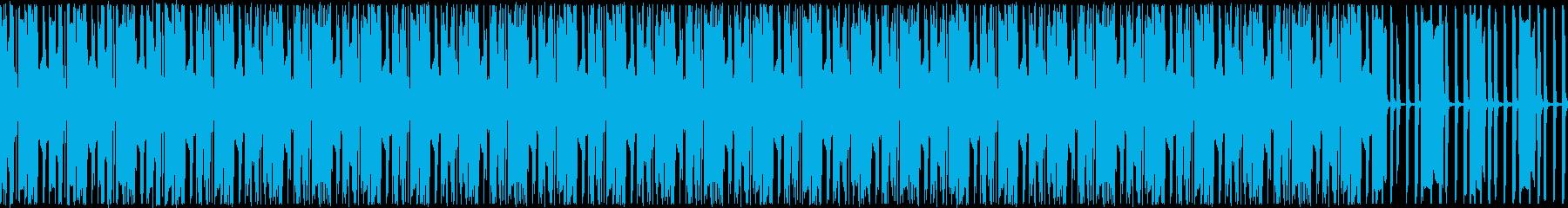 ランダムに散りばめられたブレークビーツの再生済みの波形