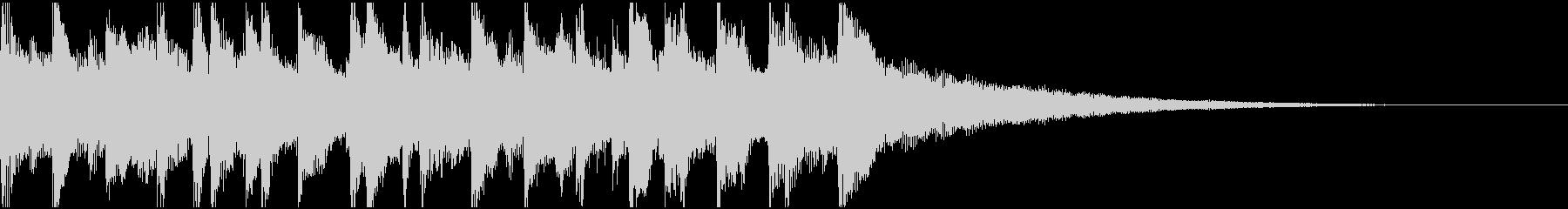 15秒ウクレレ、リコーダーの楽しい楽曲Bの未再生の波形