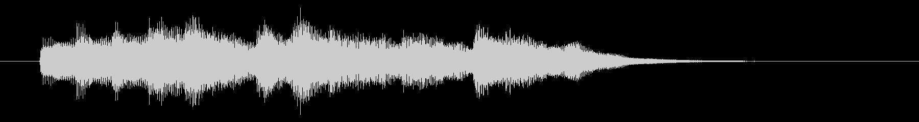 メロディアスで可憐なピアノジングルの未再生の波形