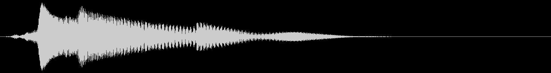 カーソル移動音の未再生の波形