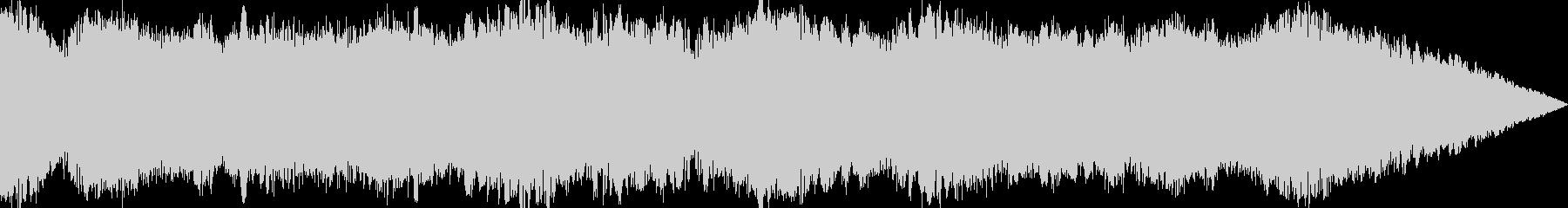 ウィーンと長くうねる効果音の未再生の波形