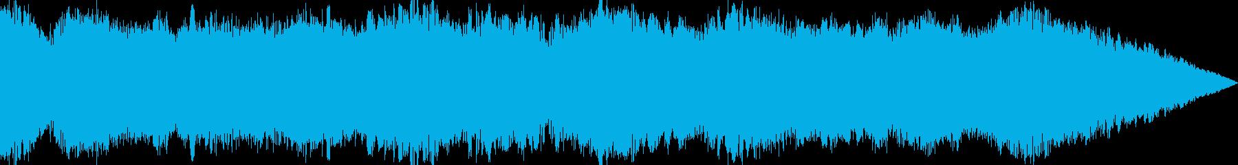 ウィーンと長くうねる効果音の再生済みの波形