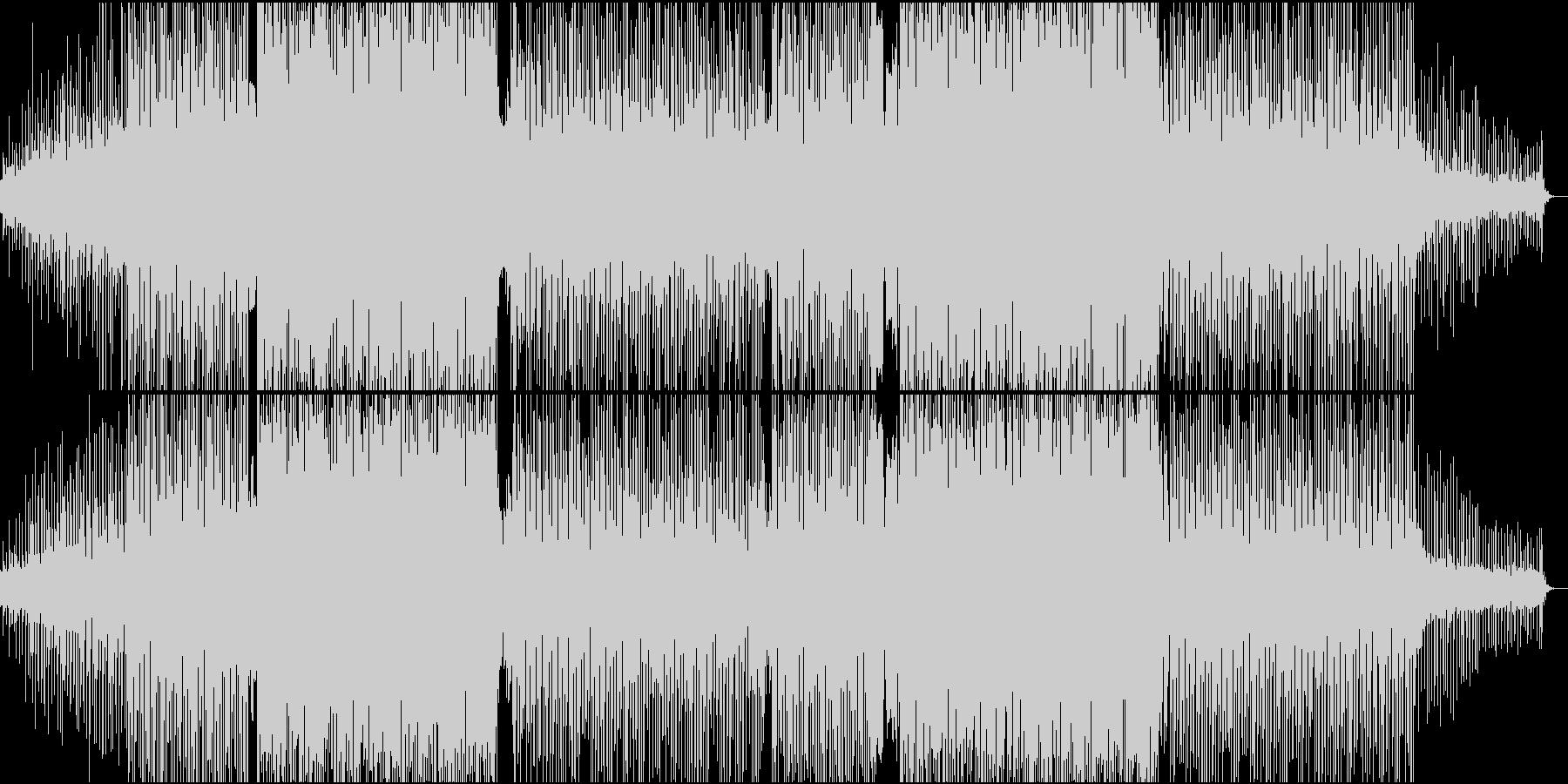 高揚感と明るさのあるファンキーなビートの未再生の波形
