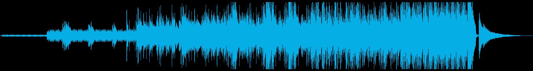 幻想的なピアノとドラムのポリリズム楽曲の再生済みの波形