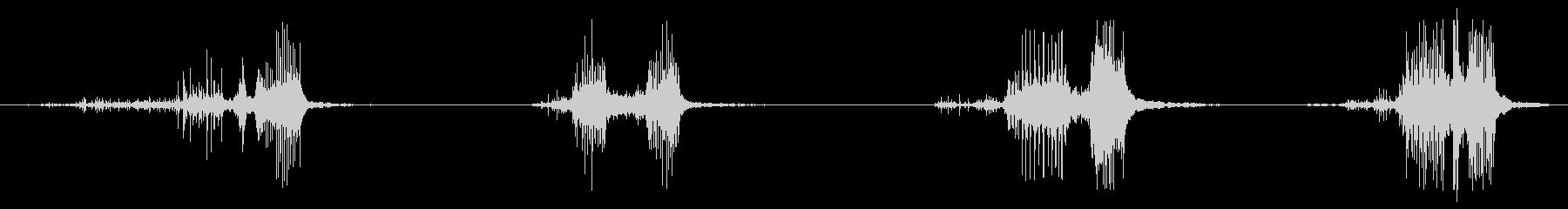 ASMR ビニールをビリビリにする音の未再生の波形