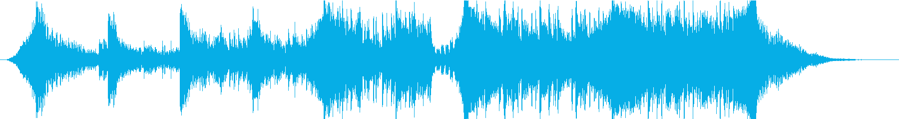 壮大で緊迫感のあるBGMの再生済みの波形