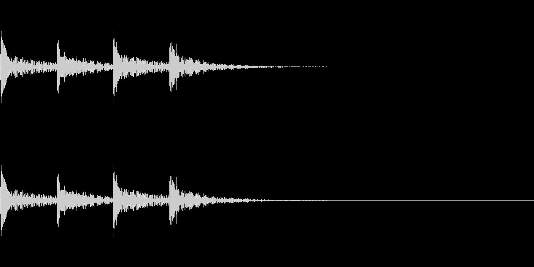 木琴 シンプルな着信音の未再生の波形