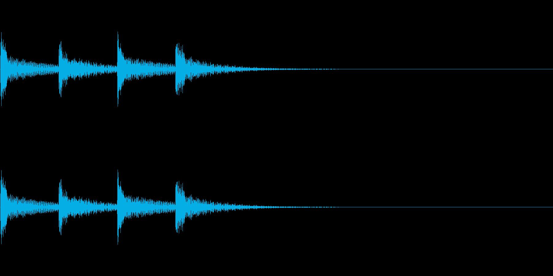 木琴 シンプルな着信音の再生済みの波形