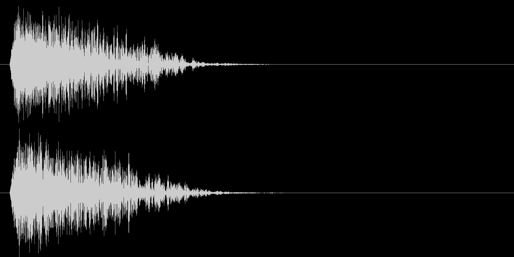 シュァキーン(ダークな斬撃音)の未再生の波形