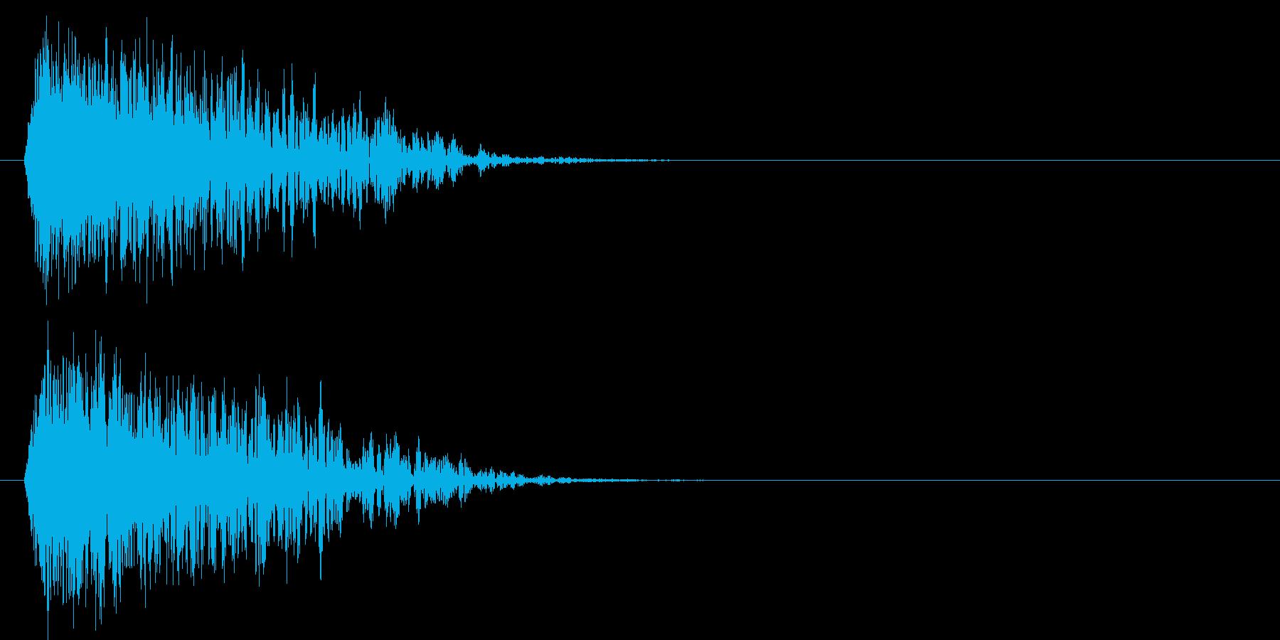 シュァキーン(ダークな斬撃音)の再生済みの波形