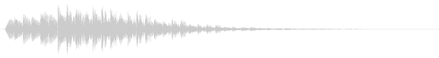 テロップ/下降/場面転換の未再生の波形