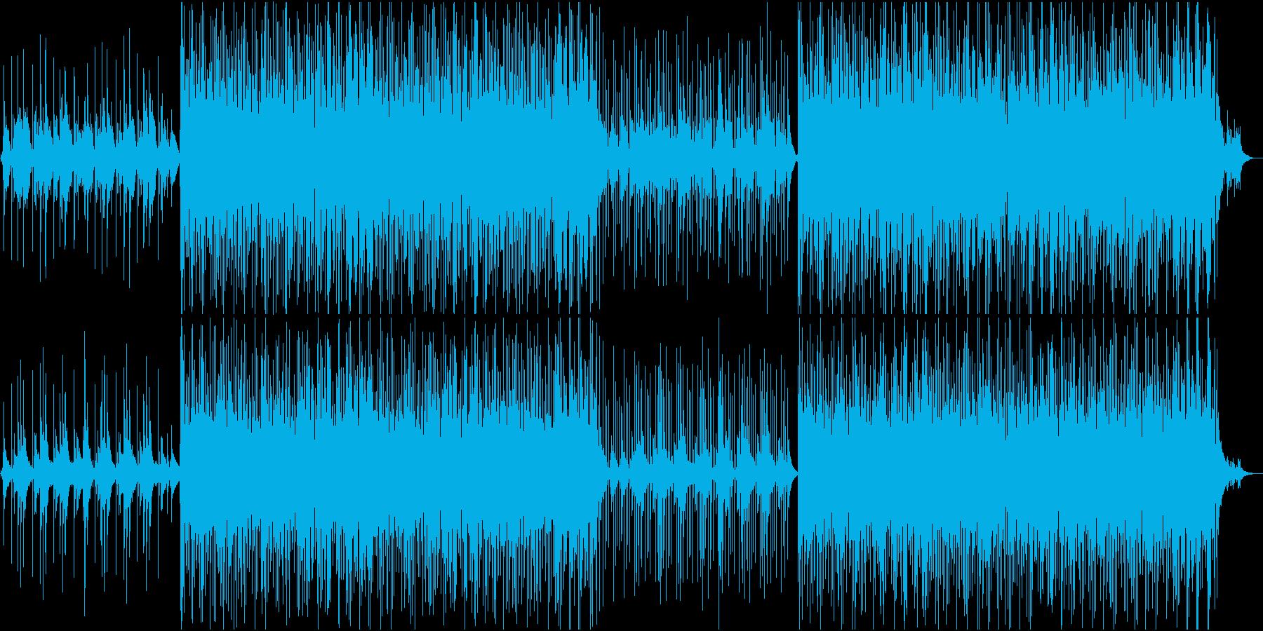 ピアノ+アコギのアコースティックなBGMの再生済みの波形