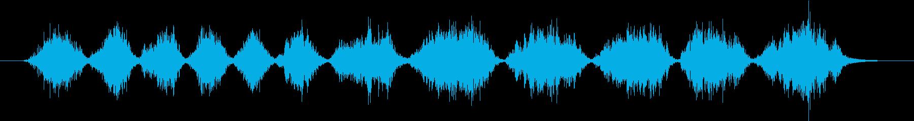 メタルへら:大きなフライパンにひっかき傷の再生済みの波形